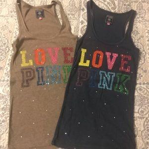 2 Victoria Secrete PINK tank tops